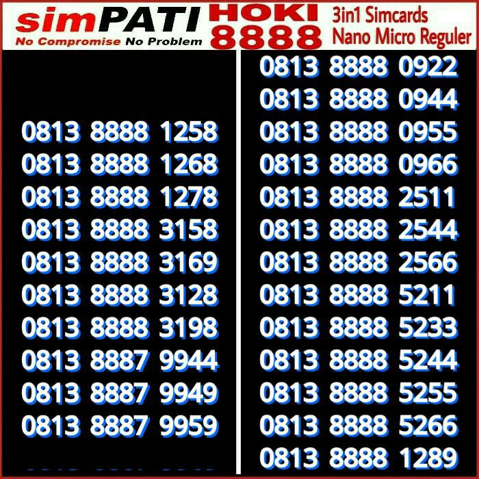 Telkomsel Simpati Nomor Cantik 0812 1818 556 Daftar Update Harga Source · Kartu Perdana Perdana Nomor