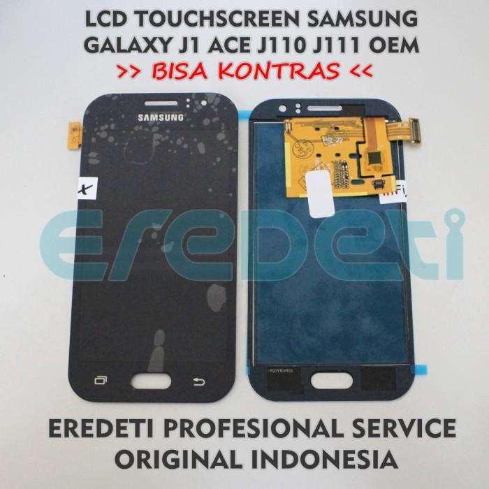 LCD TOUCHSCREEN SAMSUNG J1 ACE J110 J111 BISA KONTRAS Ori KD-002231 - Putih