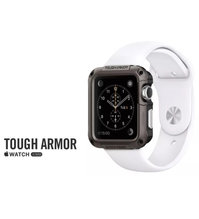 Foto Produk Tough Armor Spigen Case For Apple Watch Free Tempered Glass dari pratama69