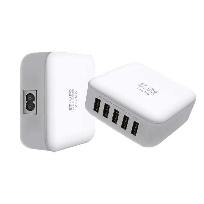 Zikko Mfi Portable Charger Plus 5 Usb Ports (Et 8a) - White - Blanja.com