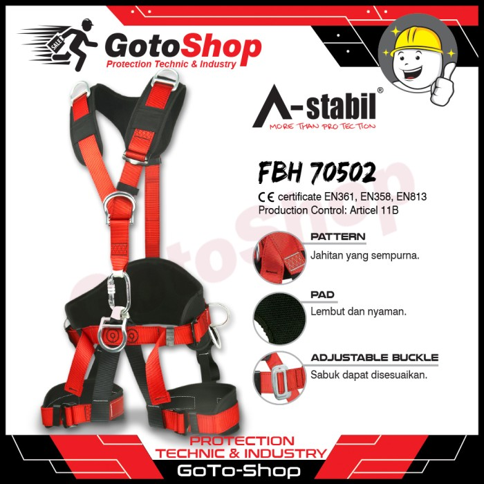 harga Full body harness safety belt astabil elites 70520 sabuk pengaman Tokopedia.com