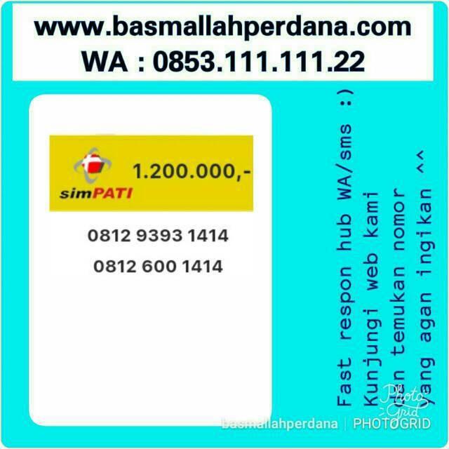 0852 88888 155. Source · Kartu Perdana Nomor Cantik Simpati Seri abab .