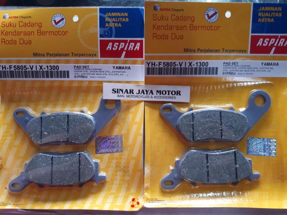 Foto Produk Kampas rem dispad belakang n max n-max nmax ASPIRA dari sinar jaya motors