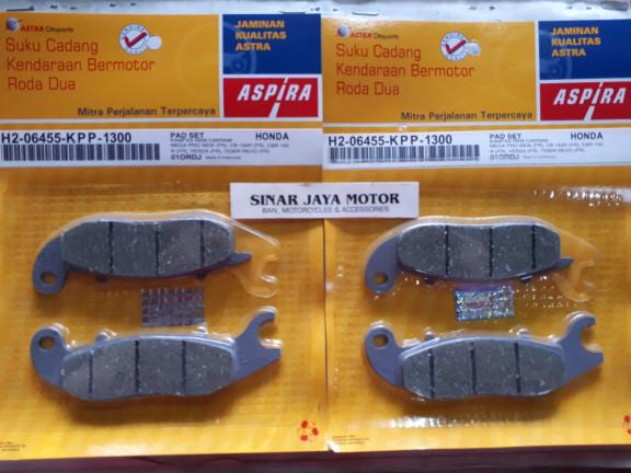 Foto Produk Kampas rem dispad depan tiger revo cb150r verza megapro new ASPIRA dari sinar jaya motors