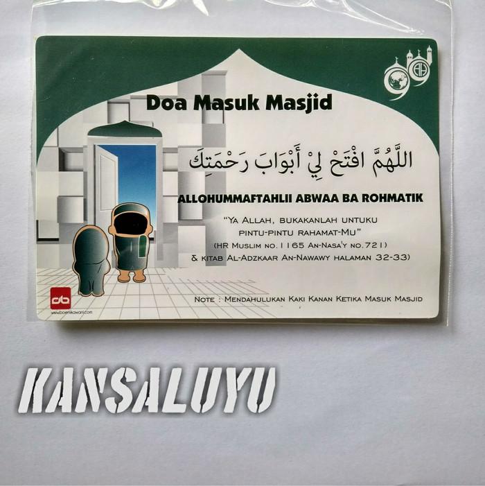 Jual Stiker Doa Masuk Masjid Sticker Islami Murah Mainan Anak Edukatif Kota Bandung Kansaluyu Tokopedia