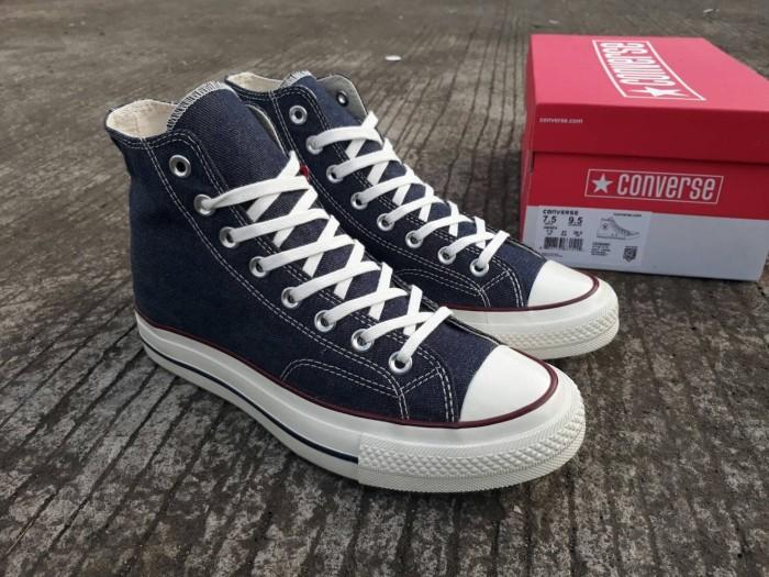 harga Sepatu converse all star 70s hi denim navy premium original bnib Tokopedia.com