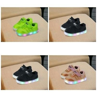 harga Sepatu led anak 27-31 sepatu led bayi sepatu lampu murah-stripe tl Tokopedia.com