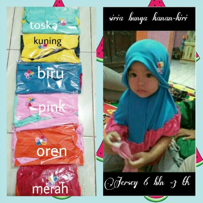 Baju Anakumi Kerudung Bayi Bunga Pink Referensi Daftar Harga Source · jilbab bayi jilbab anak kerudung