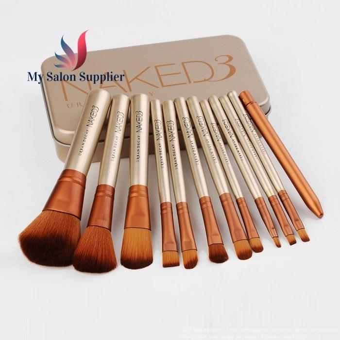 harga Kuas make up brush set naked3 kaleng isi 12