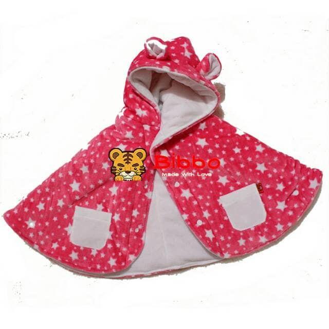 BB723/Murah/ Babycape Bibbo Bulu Halus Selimut Bayi Jaket Bayi