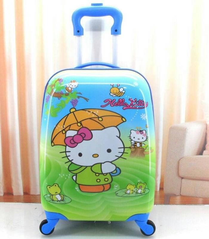 tas koper travel sekolah anak hello kitty fiber 4 roda 16 inch