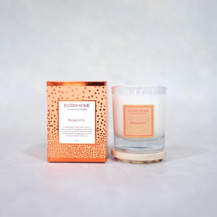 harga Euodia home bergamotto soy scented candles 60g|lilin bergamotto Tokopedia.com