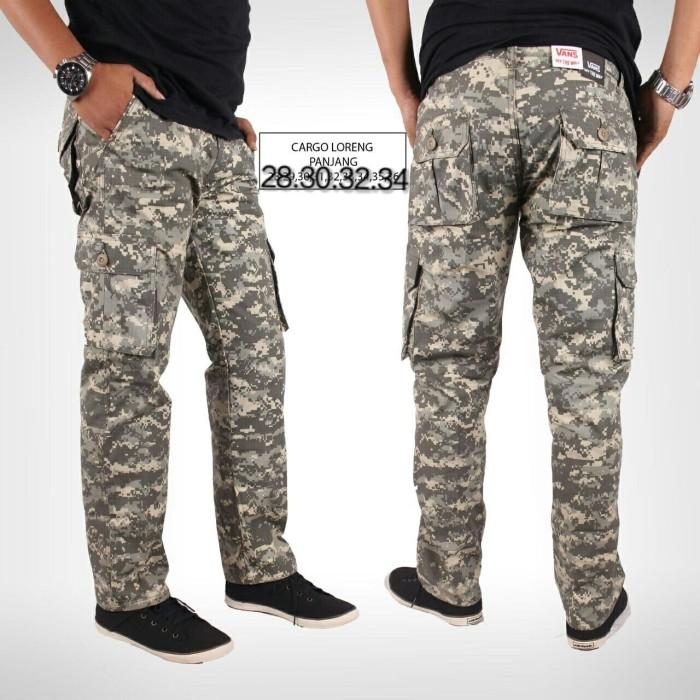 harga [i]celana panjang cargo army loreng pria / import quality Tokopedia.com