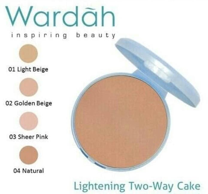 Bedak Wardah Refill Lightening TWC Two Way Cake Extra Cover Isi Ulang