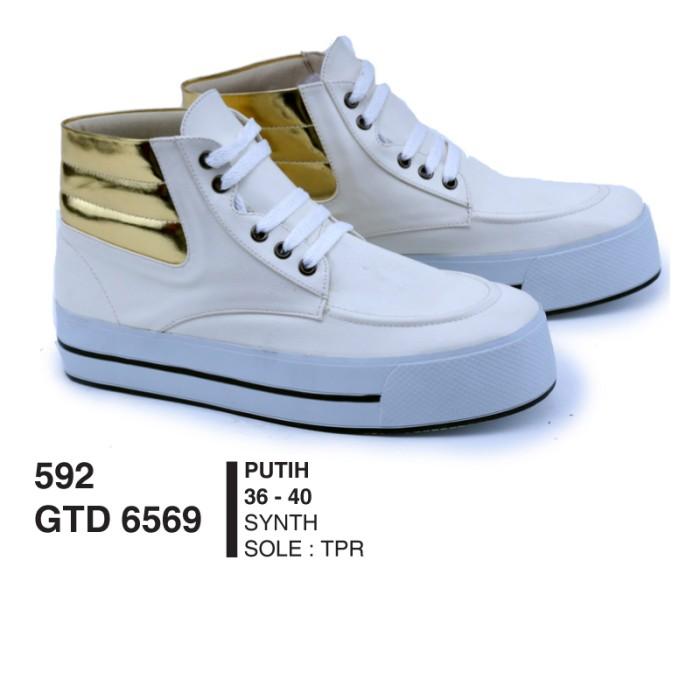Sepatu Sneakers Wanita - Sepatu Kets - Sepatu Trendy GTDx6569 White