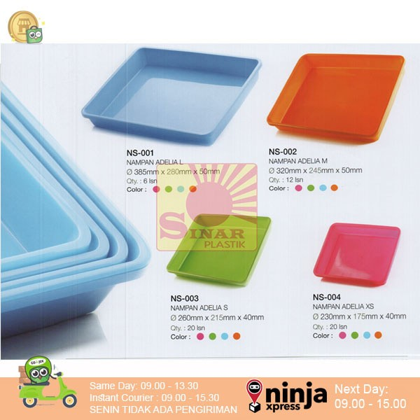harga Multipurpose tray/ nampan segi plastik adelia l Tokopedia.com