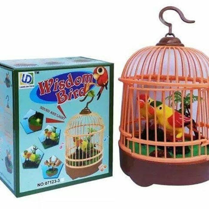 harga Mainan anak wisdom bird burung berkicau dalam sangkar whistle toys kid Tokopedia.com