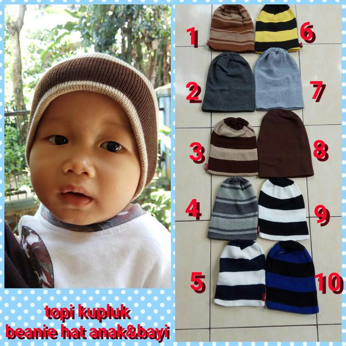 Lstore Topi Kupluk Anak Bayi Rajut Beanie Baby Hat Tebal 1pcs ... 2be3c5062a
