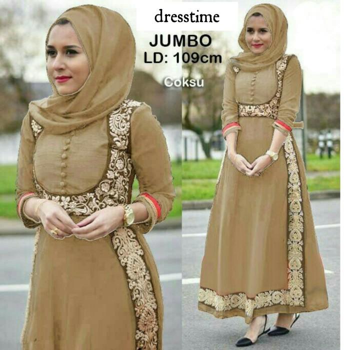 Jual 644 Gamis Renda Baju Muslim Maxi Dress Busui Gaun Pesta