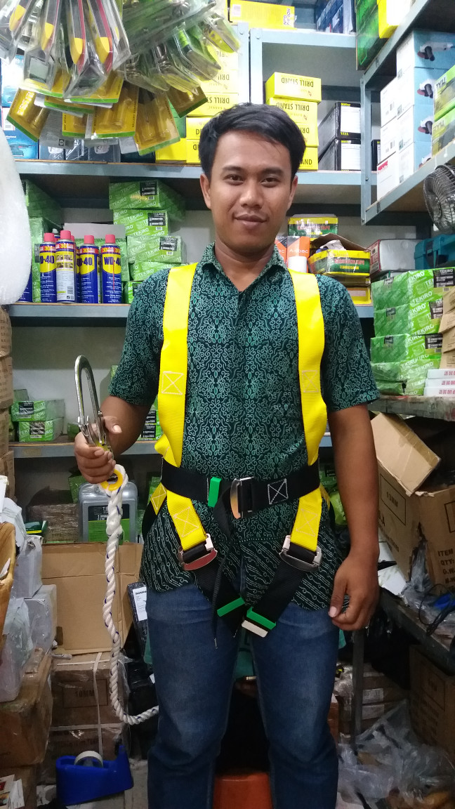 harga Safety belt full body single hook besar / body harnes harness big hook Tokopedia.com