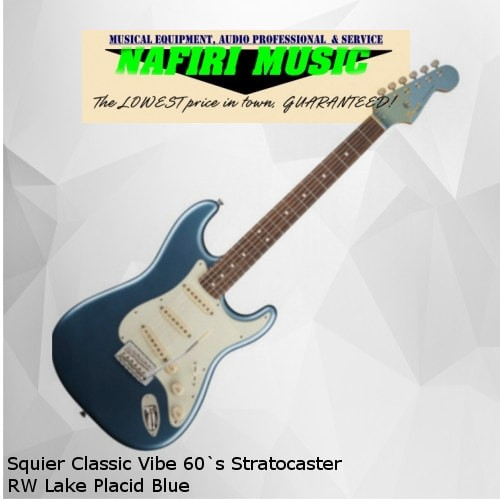 harga Squier classic vibe 60`s stratocaster rw lake placid blue Tokopedia.com