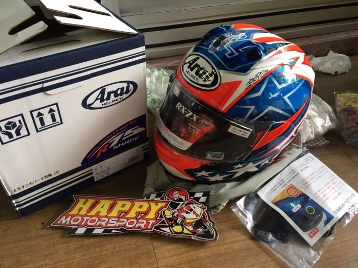 Foto Produk helm arai hayden SB rx7x eurofit size M L XL original japan dari Happy MotorsportKadipiro