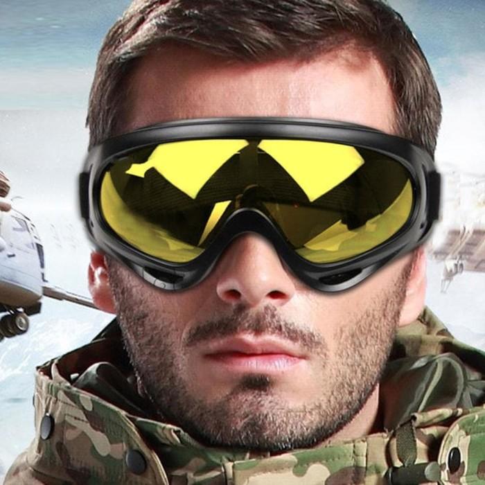 Foto Produk Ski Goggles Glasses Kacamata Helm Cross Trail Downhill Airsoftgun dari Bolu Candra Store