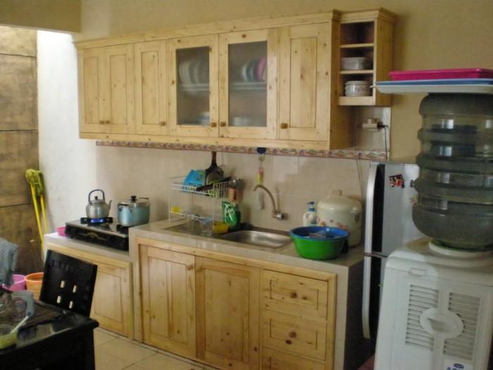Jual Kitchen Set Lemari Dapur Bahan Kayu Pinus Jati Londo