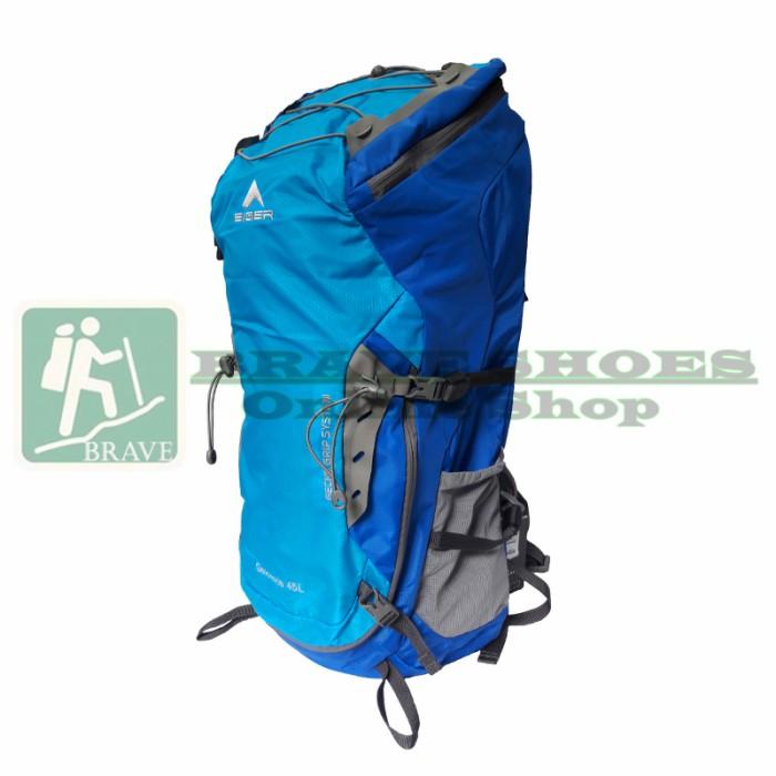 harga Eiger tas carrier 1264 gekkota 45l blue - tas gunung/hiking/outdoor Tokopedia.com