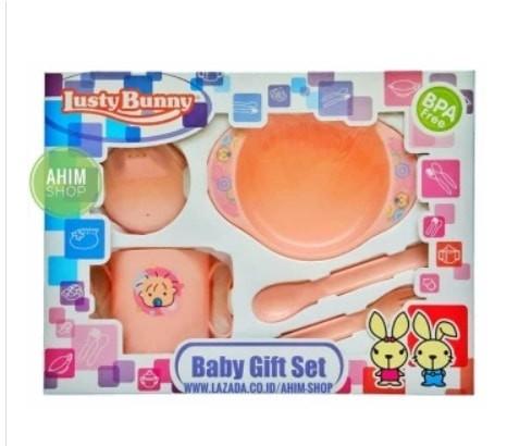 Lusty Bunny Feeding Baby Gift Set BPA Free
