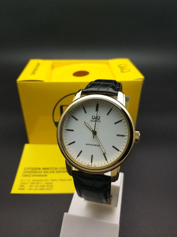 harga Q&q qnq qq analog jam tangan pria strap kulit q868j101y original Tokopedia.com