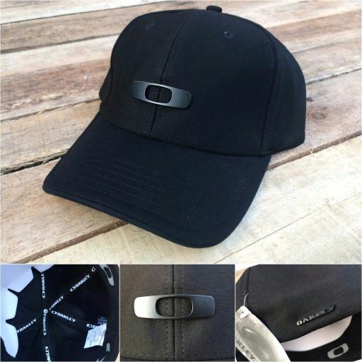 wholesale dealer f5fb4 bad8a Topi Oakley Metal Gas Can Full Black A-Flex Original