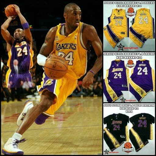 Jual Jersey Setelan BasketBall NBA LA LAKERS KOBE BRYANT  24 REPLIKA ... b7bbc21be