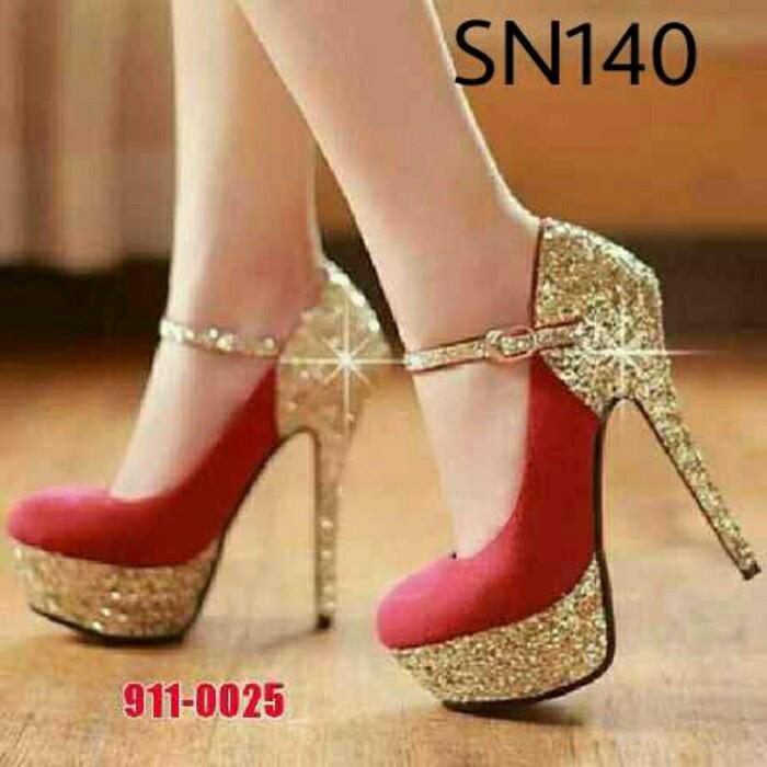 harga Sepatu wanita hak tinggi high heels sn140 Tokopedia.com