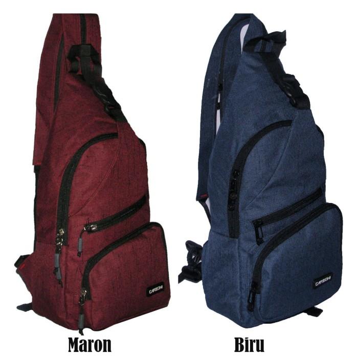 harga Tas Bodypack Gaul Tali 1 Carboni AA00023 Bisa Ransel dan Selempang  Tokopedia.com 44cde72e3dc92
