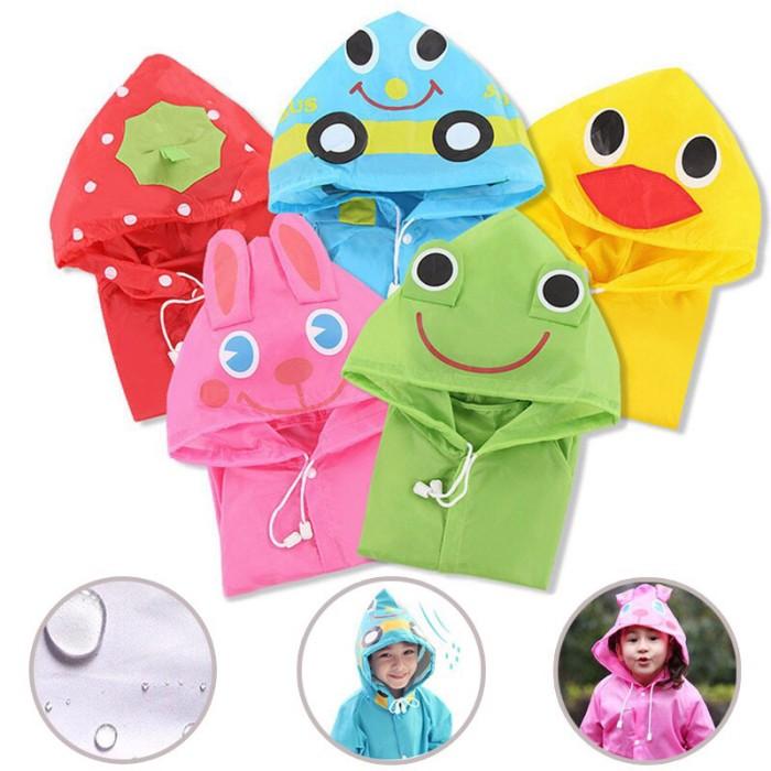 Jas hujan karakter lucu untuk anak unisex jas hujan ponco jas hujan