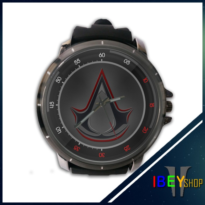 Jual Jam Tangan Custom Assassins Creed Unity Logo Kab Bandung