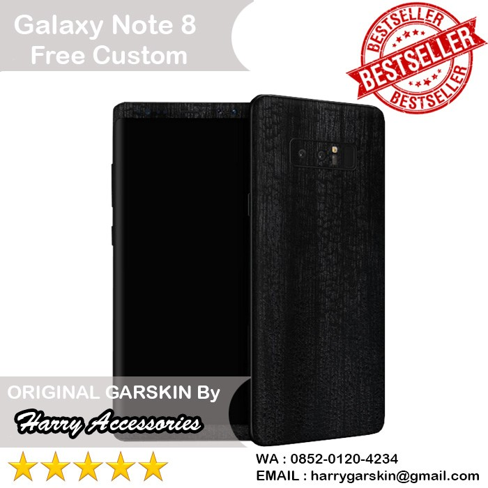 harga [original] garskin samsung galaxy note 8 motif blckwood - free custom Tokopedia.com
