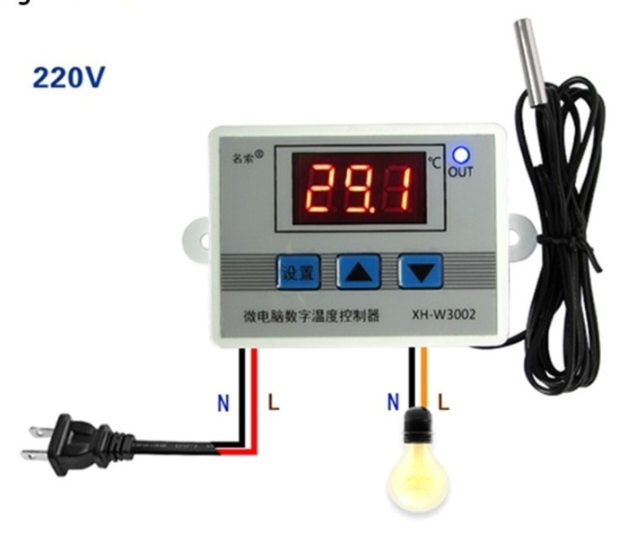 harga Termostat/thermostat temperatur mesin tetas/penetas telur dgt xh-w3002 Tokopedia.com