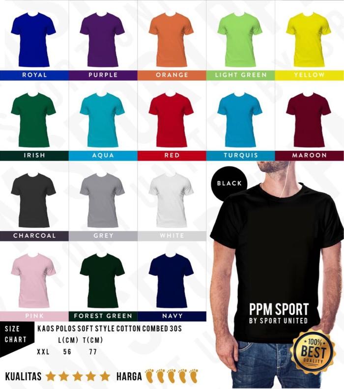 Foto Produk Distributor Kaos Polos Softstyle 100% Cotton Combed 30s XXL - Kuning, XXL dari Sport United