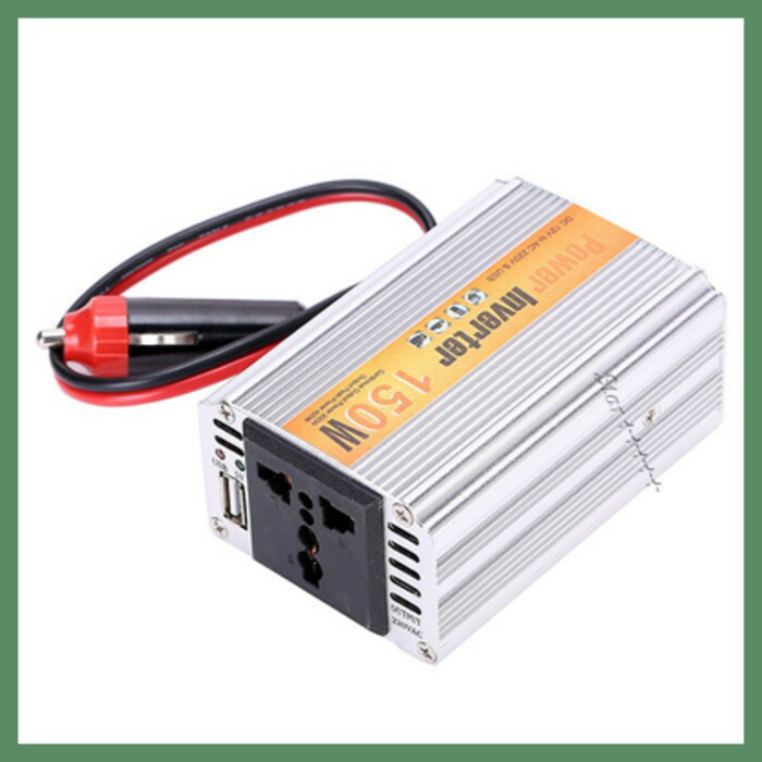 harga Colokan listrik di mobil - charger inverter 150w 220v 2usb Tokopedia.com