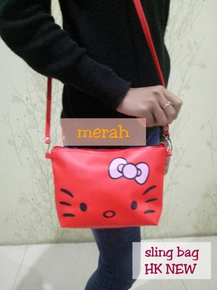 313d434b7897 Slingbag karakter Hello Kitty   sling bag tas pouch free gantungan