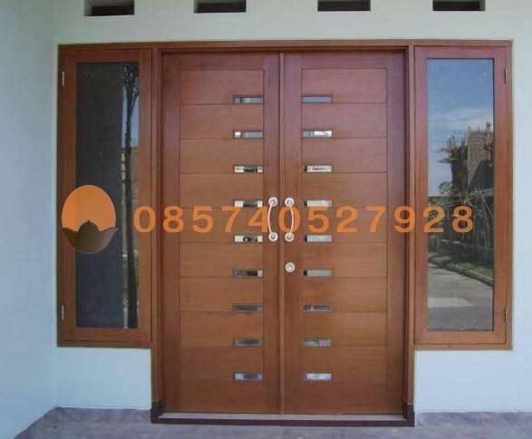 Jual Set Kusen Pintu Jendela Utama Model Minimalis Jati Kab Jepara Oemah Joglo Tokopedia
