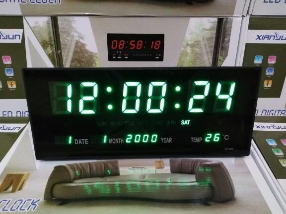 Info Harga Jam Dinding Digital LED Meja LED Clock 3615 Hijau DAN ... 3537e9f67b