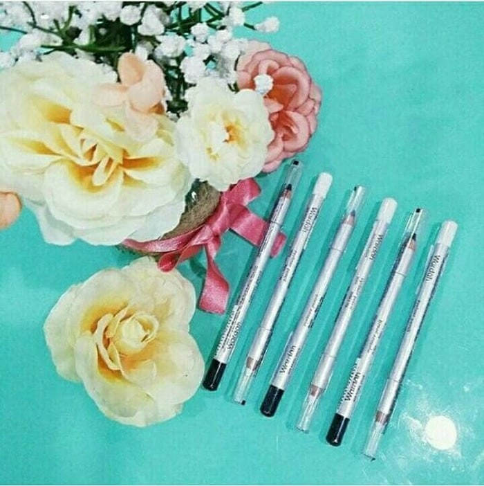 Jual Wardah Eyeliner Pencil Black White Eye Liner Pensil