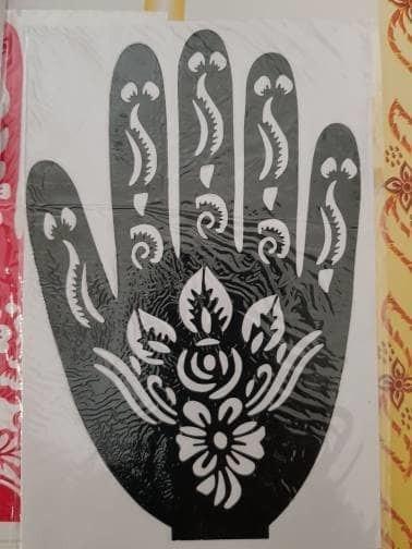 Jual Cetakan Henna Cetakan Pacar Tatto Art Mal Hena Jari Cetakan