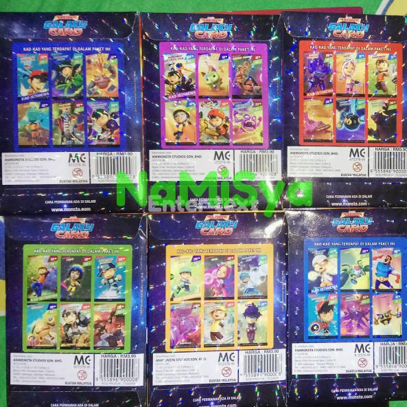 Jual Boboiboy Galaxy Card Set 54 Cards Cover Namisya Tokopedia
