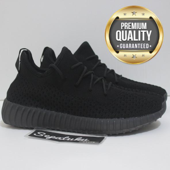 fbb6db4eb Jual Sepatu Adidas Yeezy Boost 350 V3 All Black Triple Black Full ...