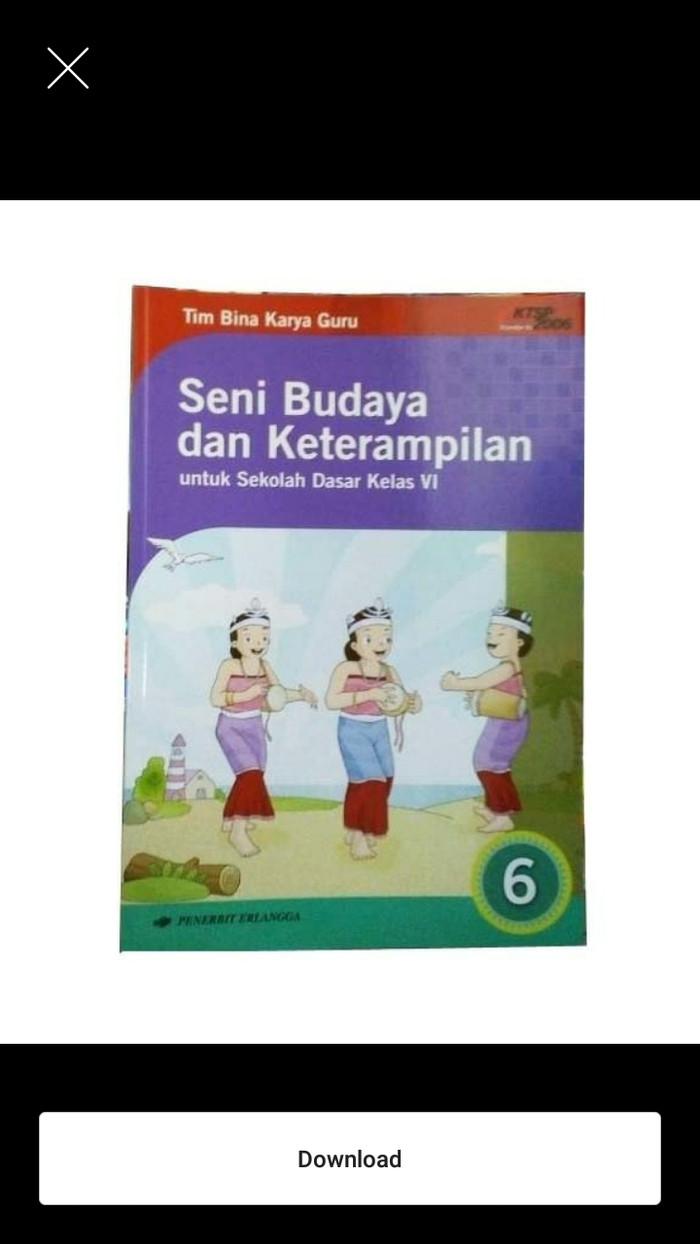 Jual Seni Budaya & Keterampilan SD Kls 6 Erlangga Jakarta Utara Iinbuku