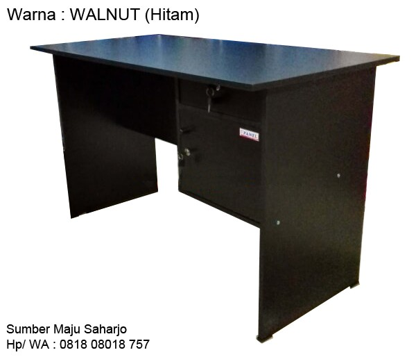 harga Meja kantor meja kerja meja 1/2 biro big panel mtb-102 walnut hitam Tokopedia.com